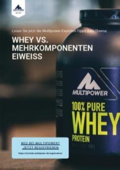 Multipower erklärt die Unterschiede zwischen Whey und Mehrkomponenteneiweiss