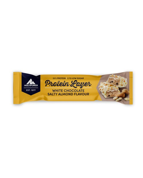 Multipower Protein Layer White Chocolate Salty Almond Proteinriegel 50g