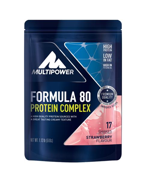Multipower Formula 80 Erdbeer 510g