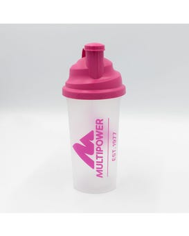 Multipower Shaker mit Sieb 700ml pink